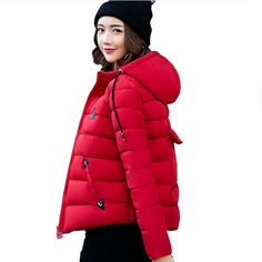 Plus Size 3XL New Cotton Short Parka Winter Jacket Women Hooded Thicken Outerwear Casaco Feminino Warm Wadded Padded Coat C3464 ** AliExpress Affiliate's buyable pin. Click the VISIT button for detailed description on www.aliexpress.com #Women'sParka