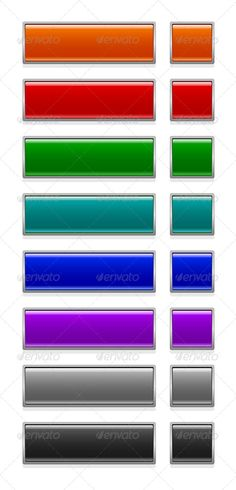 color glossy web buttons on white Zip file included EPS8 (editable) and JPG (high resolution)