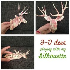 Random Vintage Finds: Free Silhouette Cut File Friday 3D Deer (small and large)