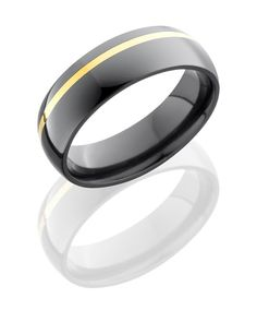men's wedding ring - steel and gold