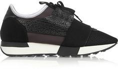 Balenciaga Suede and Leather-Paneled Mesh and Neoprene Sneakers