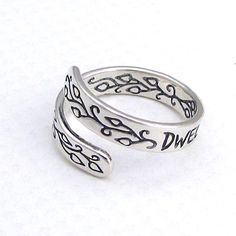 Sterling Silver Adjustable Ring  Inspirational Jewelry  by HANNI, $65.00