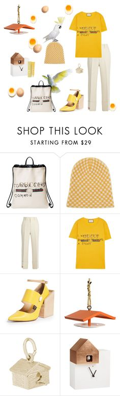 """Yolk"" by juliabachmann ❤ liked on Polyvore featuring Gucci, The Elder Statesman, Jacquemus, Droog, Rembrandt Charms, Diamantini & Domeniconi, Lab and Tony Moly"