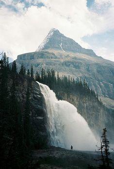 Emperor Falls . Mt Robson Provincial Park, British Columbia, Canada