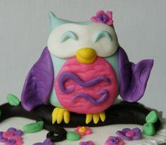 sweet fondant owl by Mili's Sweets