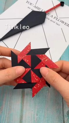 DIY Ninja Darts Toy - Bastelideen - Shoot darts just like a ninja. Use paper to make deformable ninja darts, enjoy the good time! Instruções Origami, Paper Crafts Origami, Diy Paper, Origami Videos, Diy Crafts Hacks, Diy Arts And Crafts, Crafts For Kids, Art Diy, Art N Craft