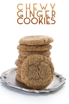 """You simply won't believe how deliciously chewy these keto ginger cookies are! Full of gingery bite with a hint of """"molasses"""", these tender almond flour cookies are the perfect treat any time of year. No one will believe that they are low carb and keto friendly! #ginger #gingercookies #ketocookies #almondflour #ketodesserts #sugarfree"""