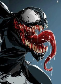 Spiderman Villains Venom and Carnage face off Venom Comics, Marvel Venom, Marvel Villains, Marvel Art, Marvel Dc Comics, Marvel Characters, Marvel Heroes, Captain Marvel, Spiderman
