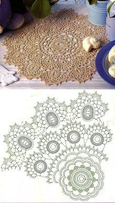 Diy Crafts - Kira scheme crochet: Scheme crochet no. Free Crochet Doily Patterns, Crochet Doily Diagram, Crochet Motifs, Thread Crochet, Crochet Designs, Crochet Doilies, Crochet Flowers, Crochet Stitches, Diy Crafts Crochet
