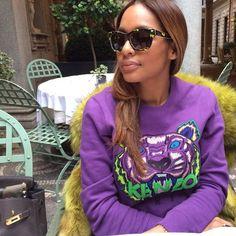   Fashion   Winonah de Jong   Kenzo tiger sweater s/s 2014   Mr. and Mrs. Fur coat   Valentino sunglasses  