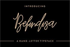 Introducing Befindisa is hand-letter script font, every single letters have been carefully crafted to make your text looks beautiful. handwriting style will be very suitable for quotes, poster, wedding, branding, logo, fashion, apparel, letter, invitation, stationery, etc.