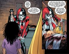 Harley Quinn scolds Doctor Fate for calling himself a doctor.