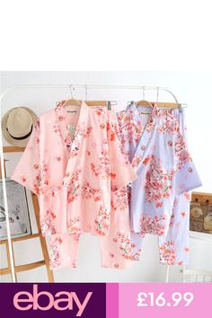 Japanese Women Kimono Sleepwear Robe Pajamas Nightwear Cotton Pajamas Bath  Gown  ee72f040b