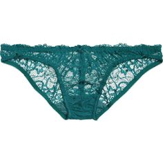 Deborah Marquit Lace briefs ($71) ❤ liked on Polyvore featuring intimates, panties, blue, lace underwire bra, lacy thong, blue lace thong, deborah marquit and blue thong