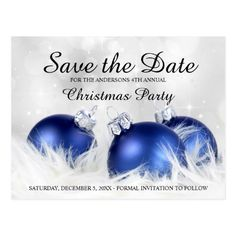 Christmas Party Save The Date Postcard