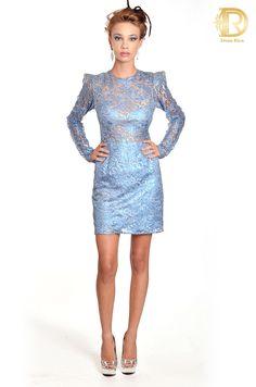 Patricia bonaldi by Dona Rica vestido azul luxo
