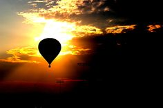 Hot Air Balloon at Sunset by Earl's Photography