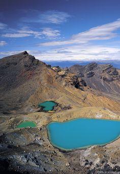 La Nouvelle Zélande, entre cinéma et aventure - Les lacs émeraudes du Tongariro National Park (New Zealand)
