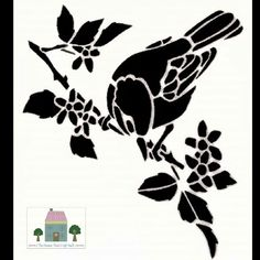 Everlong Shabby Chic Love Birds A5 Stencil