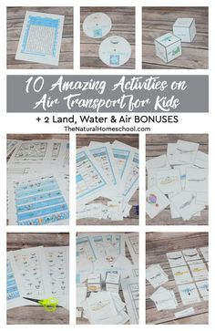 Let's look at 10 amazing activities on air transport for kids to learn all about names for air transportation with 2 land, water and air bonuses! Homeschool High School, Homeschool Curriculum, Projects For Kids, Diy For Kids, Transportation Activities, How To Start Homeschooling, Preschool Lesson Plans, Montessori Materials, Kids Learning