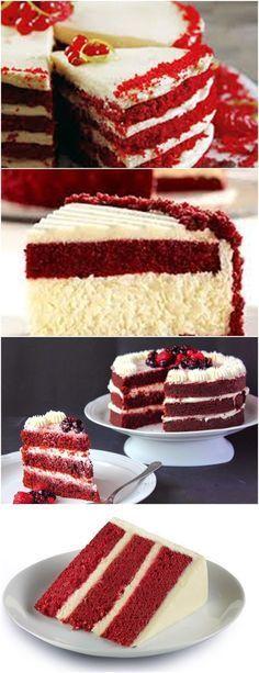 Red velvet recheado com cheesecake Um espetáculo de receita de naked cake superoriginal VEJA AQUI>>>Leve o leite com a manteiga e o chocolate ao fogo médio, mexendo sempre, até derreter a manteiga. Fora do fogo, misture o corante e reserve. #receita#bolo#torta#doce#sobremesa#aniversario#pudim#mousse#pave#Cheesecake#chocolate#confeitaria