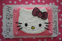 Great looking Hello Kitty cake and easy how to!