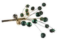 FlowerBrooch Bouquet Trembler Sterling by Yourgreatfinds on Etsy