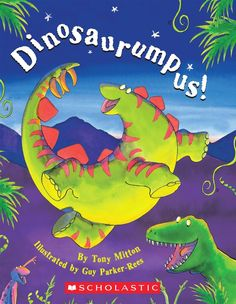 The Dinosaurs Are Dancing - Come Join the Romp! DINOSAURUMPUS! by Tony Mitton, illustrated by Guy Parker-Rees #picturebooks #picturebook #read #reading #family #readaloud #children #kids #childrensboooks #story #storytime #bedtime #book #books #storyhour #storycorner #bedtimebooks #goodnightbook #bedtimebook #goodnightbooks #dinosaurs #dinosaurumpus #dinosaur