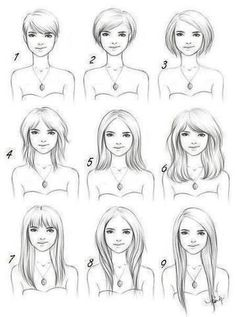 how to cut your hair for rounded face shape                              …