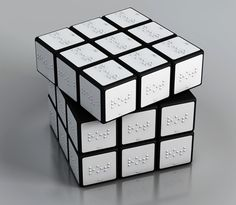 Braille Rubrik Cube designed by Konstantin Datz