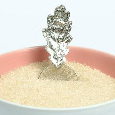 Glover & Smith Oak Leaf Sugar Spoon, Oak Leaf Gifts ($27) ❤ liked on Polyvore featuring home and kitchen & dining