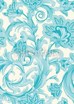 Magic Spell Of Crystal Flowers by Sabine Reinhart available as a vector file on patterndesigns.com
