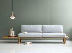 Plank Sofa, originado a partir de una plancha de madera Más