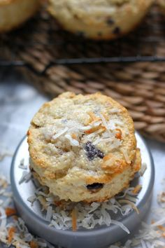 Chocolate Chunk Toasted Coconut Scones (recipe)