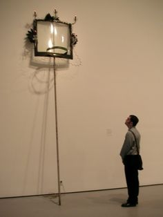 David Hammons's High Falutin' (1990) in the Contemporary galleries, with Barry contemplating its delightsHammons.JPG