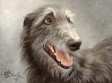 Kunstdruck Deerhound, Christina Schulte