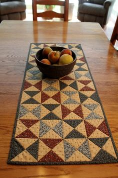 Patchwork Quilted Runner / Quilted Table by Sewsouthernquilts