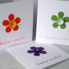 Quilled Easter cards, set of 3 by Paper Daisy Card Design on Folksy £6.50