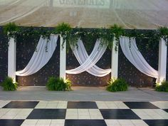 Great and easy wall treatment.  Back drop by eventswithdesign, via Flickr