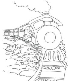 steam train cartoon coloring sheet for preschool children - Free Steam Trains Coloring Pages Printable Train Coloring Pages, Free Coloring Sheets, Free Adult Coloring Pages, Free Printable Coloring Pages, Coloring For Kids, Coloring Books, Colouring, Train Sketch, Train Cartoon