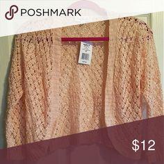 NWT Blush cardigan Blush color 3/4 length cardigan. Never worn! Sweaters Shrugs & Ponchos