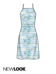 Misses' halter dresses with back tie; View A | New Look Patterns New Look Patterns, Dress Patterns, Sewing Patterns, Sewing Clothes, Diy Clothes, Kwik Sew, Sewing Projects, Sewing Ideas, Vogue Patterns