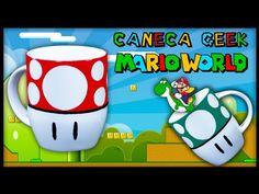 Diy: Caneca Gamer Cogumelo Super Mario - YouTube