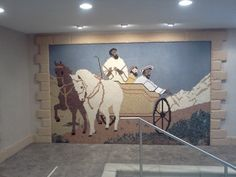 Mosaic over baptismal pool - Jehovah's Witnesses Assembly Hall in Holt, Michigan What prevents me from being baptized?