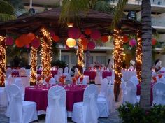 Azul Sensatori Hotel, by Karisma: outdoor wedding set-up ... Perfect except for white chairs
