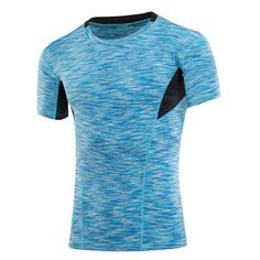Summer Sport Bodybuilding Tight Tops Tees Quick Dry Slim Fit Short Sleeve T-shirt For Men