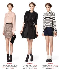 http://www.mizhattan.com/2012/01/designer-collab-jason-wu-for-target.html  In LOOOVE WITH THE SHEER PINK BLOUSE and skirt and the last outfit, very adorable! Looove the black sheer socks with the shiny heels <33333333