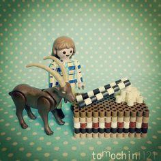3D Chocolate cake perler beads by tomochintomochin