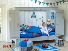 Bed for a boy / łóżko dla chłopca - http://www.seart.pl/lozko-sosnowe-tom-p-187.html