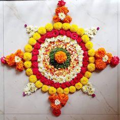 Onam Pookalam Design, Onam Festival, Outline Images, Flower Rangoli, Flower Decorations, Most Beautiful, Crochet Earrings, Simple